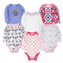 Одежда для новорожденных 100% хлопок комбинезон 6 шт/компл с