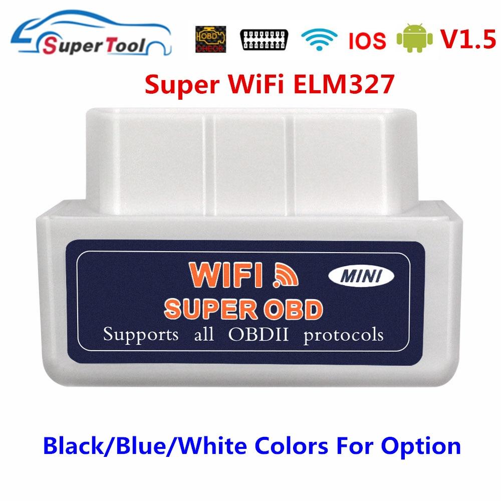 Диагностический сканер OBD2 ELM327 V1.5 Wi-Fi OBD 2, автомобильный диагностический сканер для автомобиля OBDII ELM 327 Wi-Fi 1,5, диагностический инструмент, счи...