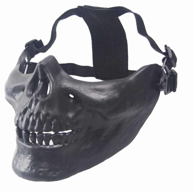 Outdoor Skull Design Half Face Body Protective Mask Army Fan Mask Warrior Half Face Protective Mask Costume Supplies