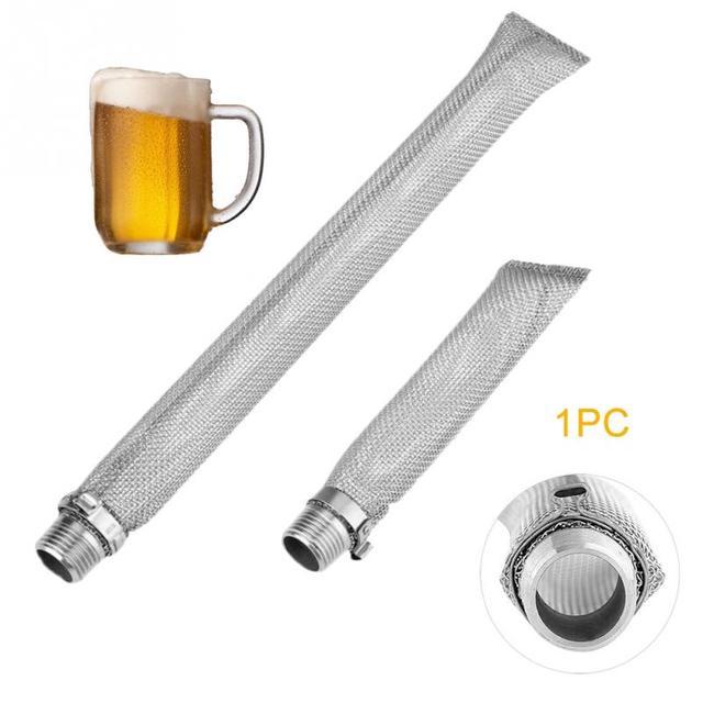 Filtro de cerveza de acero inoxidable, hervidor de cerveza con pantalla Bazooka, colador de malla multifunción reutilizable, hilo de vino, herramientas para el hogar