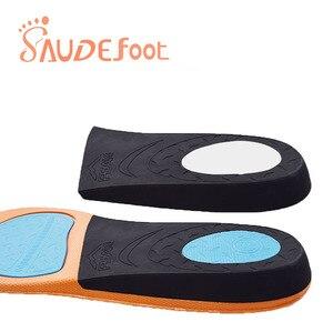 Image 2 - Saudefoot Shoe Insole Sneakers Cushion PU Damping Glue Ultra fine Velvet  Absorbing Memory Foam Increased Flexible Soft Shoe pad