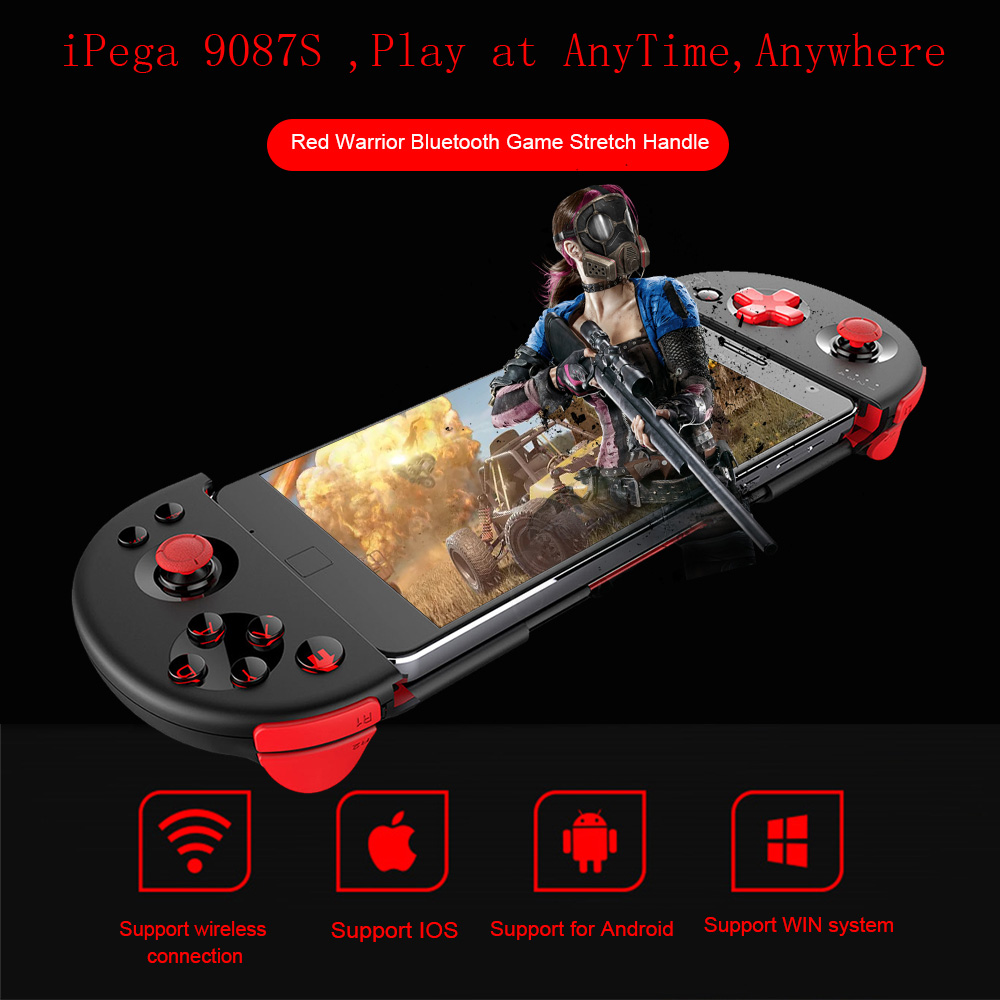 IPEGA – manette de jeu Bluetooth 9087S, Joystick extensible, pour téléphone, tablette ios, PC, Android Tv Box