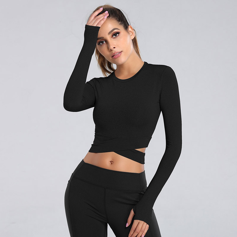 inspire crop top black