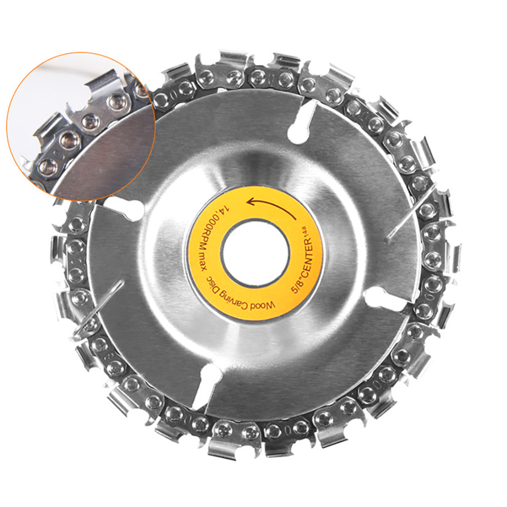 4 Inch  Chain Woodworking Saw  Wood Carving Disk Grinder DiscBlade Cutting Blade Wood Slotted Saw Blade Angle Grinder