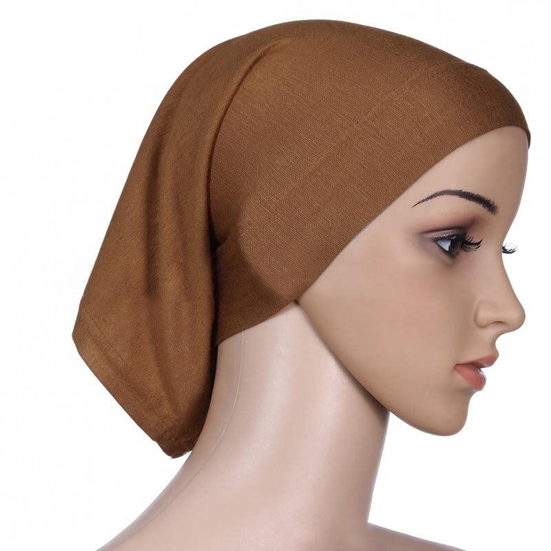 Мусульманский женский шарф Национальный Рамадан аксессуары для волос тюрбан декоративная хлопковая шапка шапочки под хиджаб Мода Защита от солнца пляж - Цвет: camel