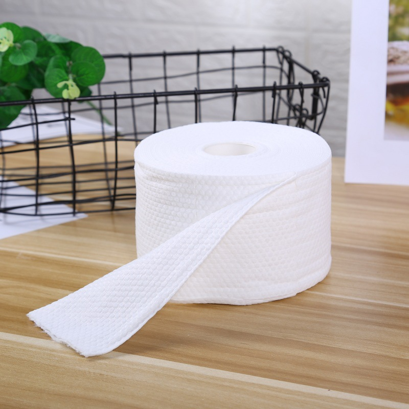 3 Rolls Face Towel  Facial Tissue Makeup Wipes Cotton Pads Facial Cleaning Makeup Remover Roll Paper Tissue Daily Use
