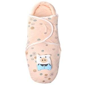 Image 2 - Collo protezione del bambino swaddle neonati anti shock sacco a pelo Neonato cura del bambino a testa piatta cuscino coperta swaddles cotone wrap