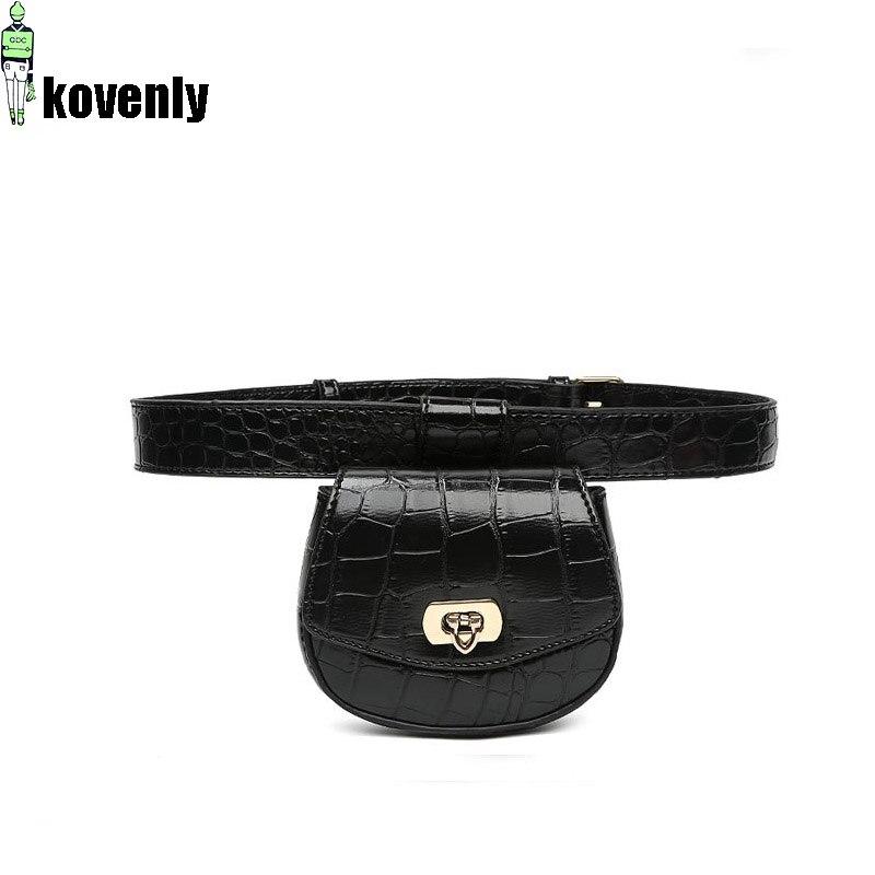 Vintage Fanny Pack Women Waist Bag Alligator Belt Bag For Girl Small Bags Fashion Leather Waist Packs Female Mini Bum Pack