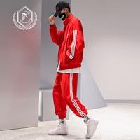 Men Loose Large Size Sweatshirts Casual Sport Hip Hop Sets