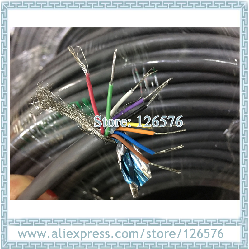 10 Meter High Quality 0.2^mm2 9 Core Shielded Cable 24AWG