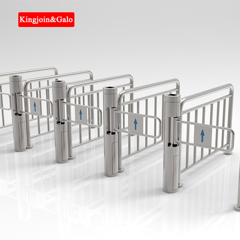 Fine Dual Swing Barrier For Access Control Shopping Mall Supermarket,subway Use Pedestrian Disorder,barrier Gate Customizable