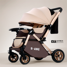 0-3-year-old Baby Stroller Can Sit, Lie, Fold Baby Umbrella, Four-wheel Shock Absorption, Two-way Trolley for Children