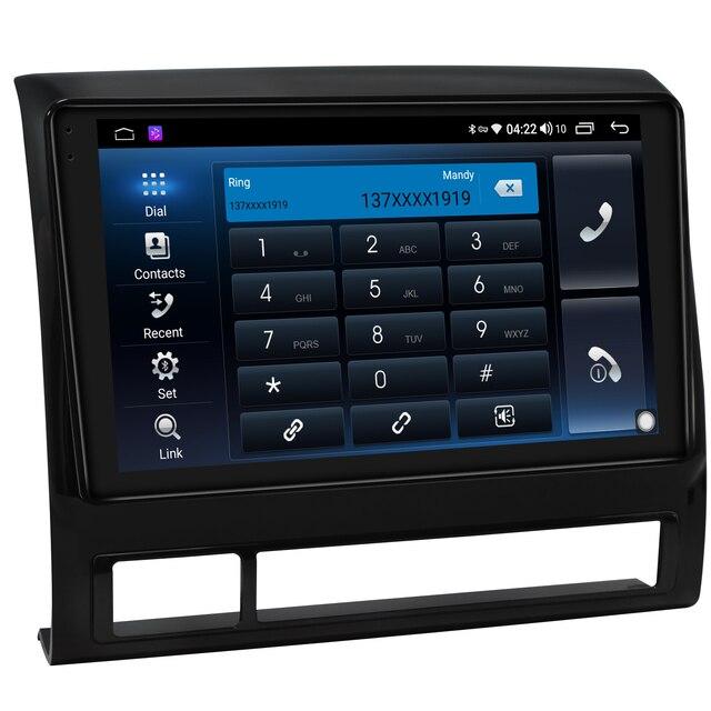 9 Inch Central Multimidia 1 Din Radio Android10 Autoradio Head Unit For Toyota Tacoma 2005 2015 Wireless Carplay Android Auto 4G