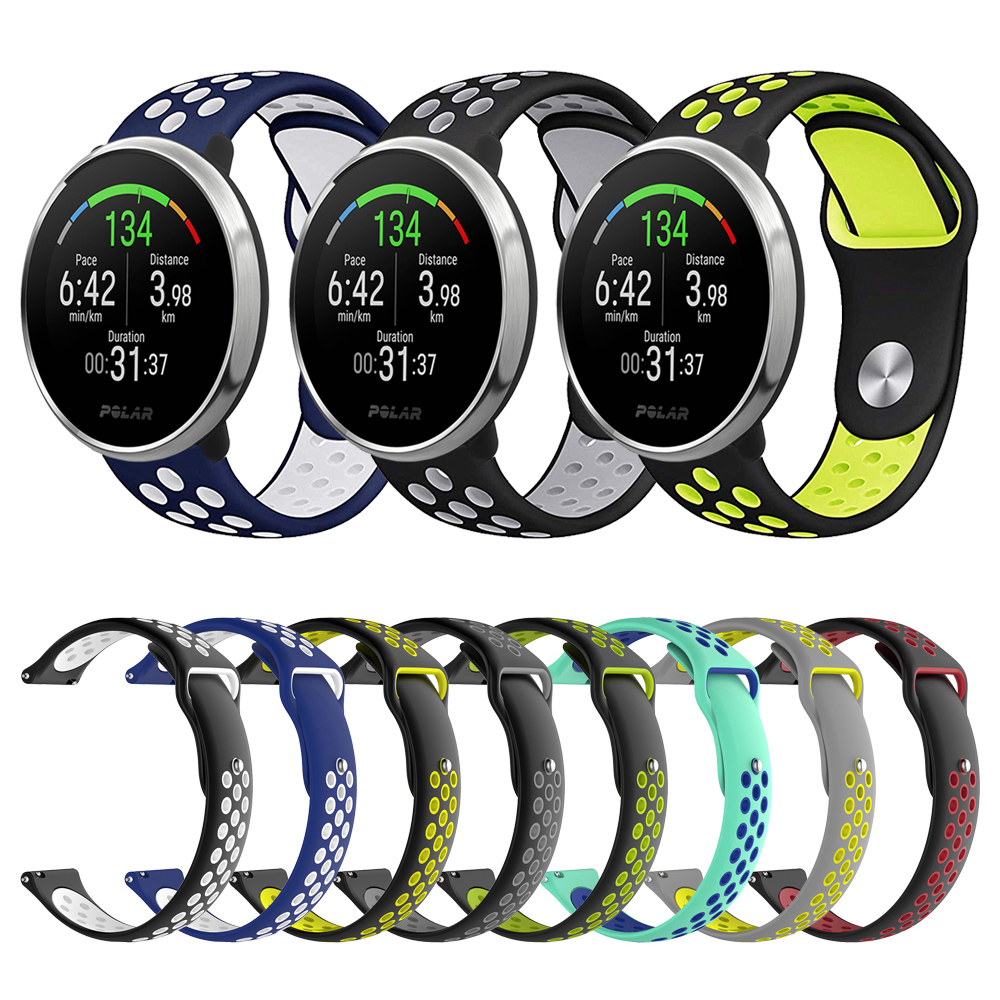 Watch Accessories For POLAR IGNITE Smartwatch Silicone Band Strap For POLAR Vantage M Replacement Bracelet Belt Bands Watchband
