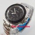 Bliger 40 мм Miyota 8215 автоматические мужские часы черный циферблат светящийся сапфировое стекло матовый керамический ободок