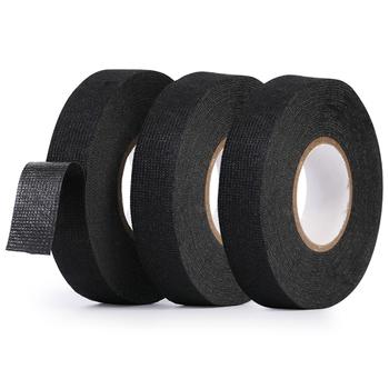 Kabel samochodowy okablowanie taśma z tkaniny samoprzylepnej do fiat 500 500x fiat grande punto ducato punto fiat panda tanie i dobre opinie VCiiC PET fleece Heat-resistant Fabric Tape Adhesive Wiring Harness Tape Electrical Tape Car Electrical Tape