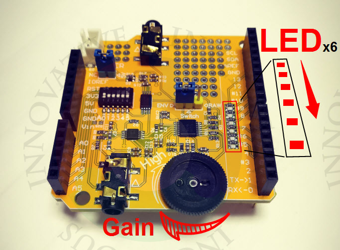 Transdutor do sensor de emg, myoware compatível