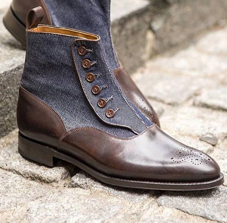 Personalized Winter Fashion Men's PU Leather Chelsea Boots Pointed Toe Ankle Boots Mens Male Casual Zapatos De Hombre D356