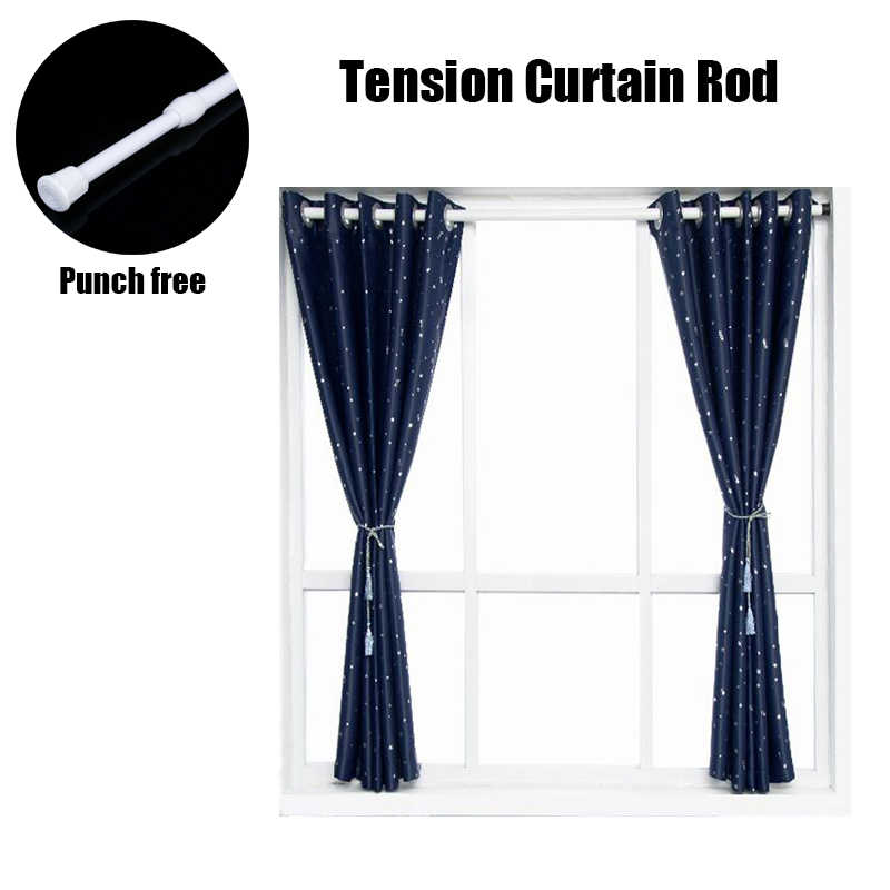 42-72 Adjustable, Chrome Graber 1-inch Spring Tension Curtain Rod 2-693-0
