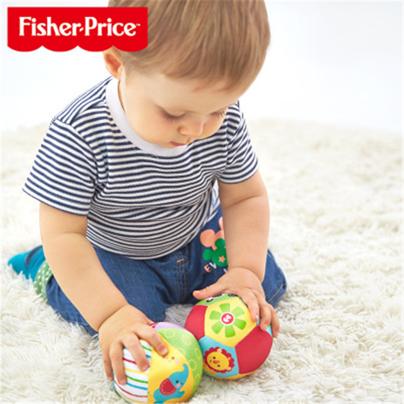 Fisher Price Baby With Sound Rattle Toy Child Animal Cognitive Ball Soft Plush Mobile Toy Baby Fitness Ball Toy 0-12 Months