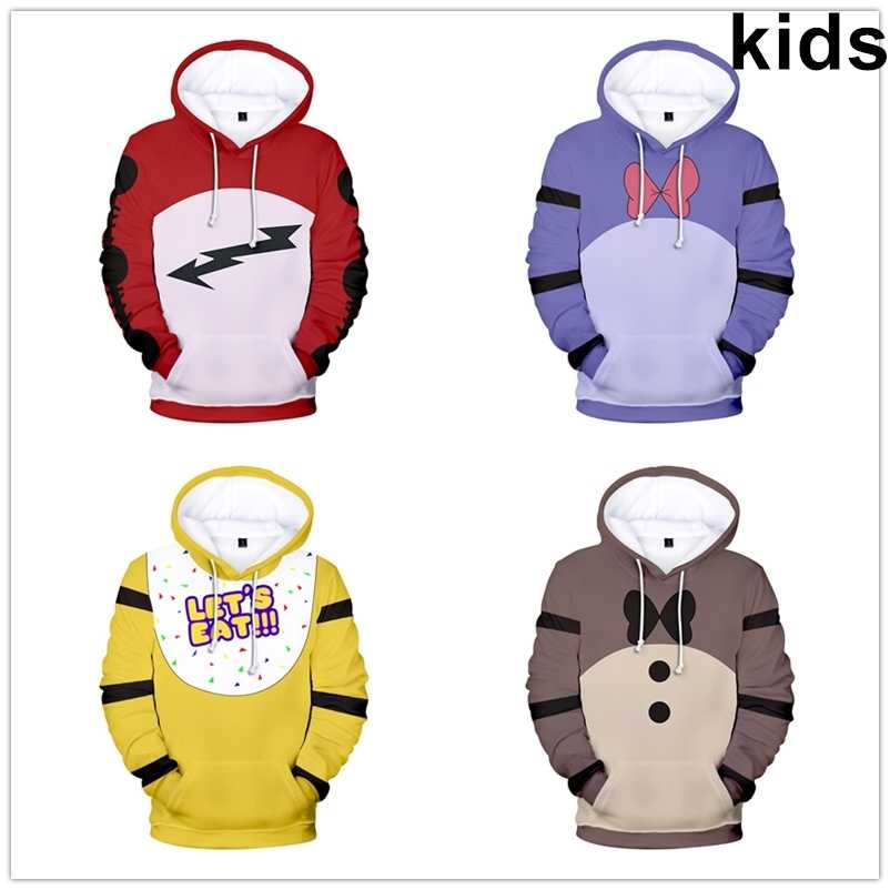 Gifts FNAF Five Night At Freddy/'s Boys Girls Hoodie Winter Warm Coat Outerwear