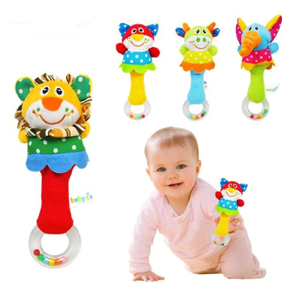 Animal Hand Bar Bell And Baby Teethers Rattles  Plush Toy And    Toys WJ093