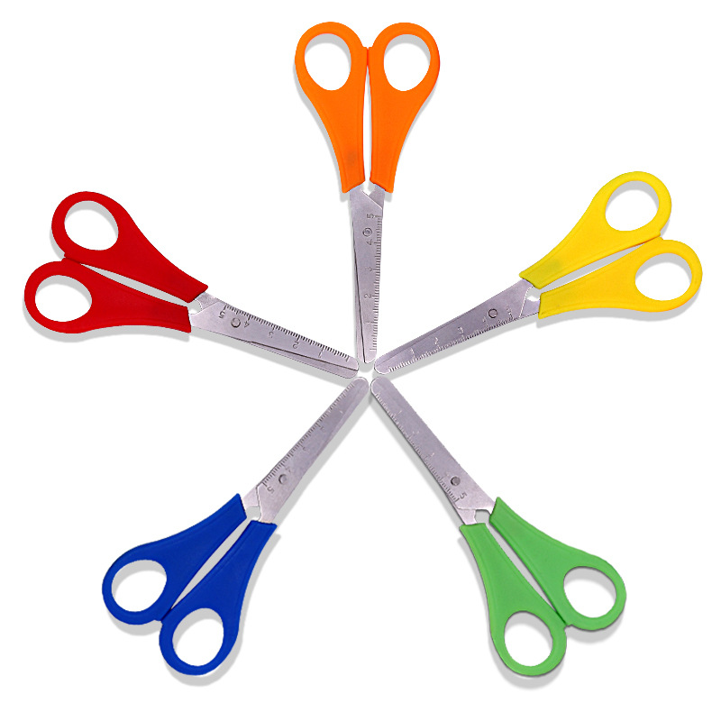 Manufacturers Direct Selling Students Ruler Scissors Students With Measuring Scissors Measuring Shear Ban Gong Jian Scissors For