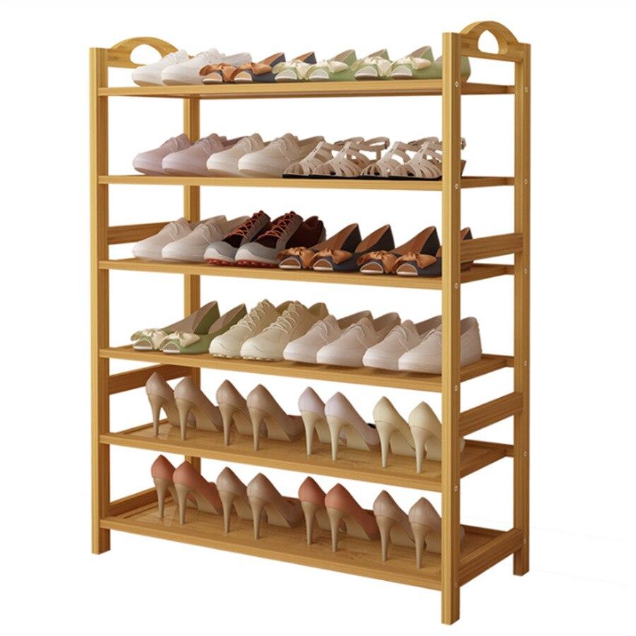 Wood Household Shoe Rack Shelves Organizer s Storage  Shelf  Tower For Home Bedroom