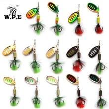 цены W.P.E KOMODO Spinner Lure 2pcs 7.5g/12.5g/16.5g Full Metal Bass Fishing Lure Hard Bait Spoon Lure Fishing Tackle Wobbler Pesca