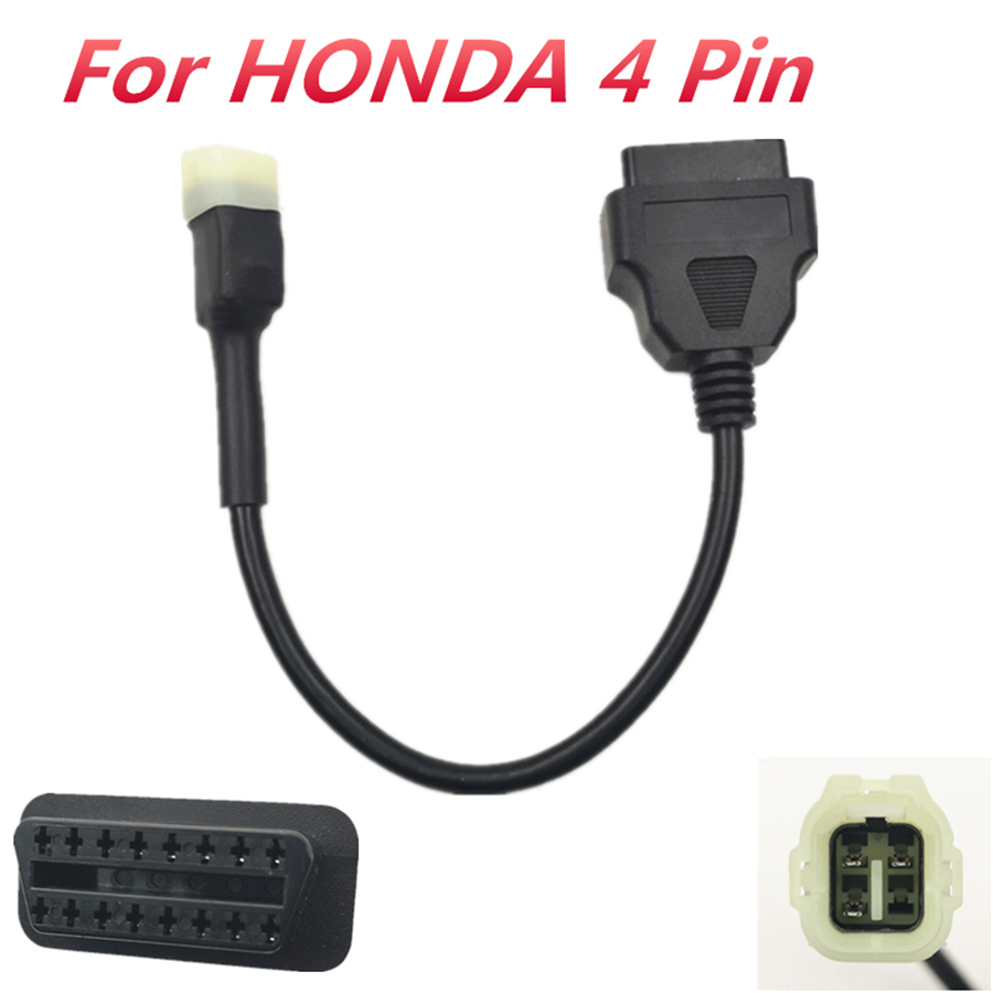 4 Pin OBD2 Diagnostic Code Reader Adapter CABLE for HONDA Motorcycle ATV