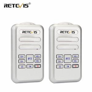 Image 1 - Retevis RT20 Mini Walkie Talkie Radio 2pcs 2W UHF Transceiver VOX FM Radio Type C USB Charge 2 Way Radio Walk Talk Comunicador