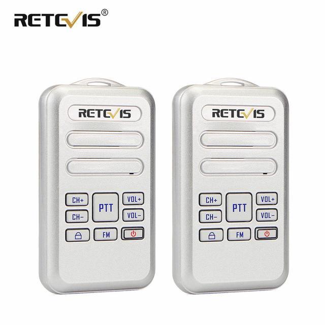 Retevis RT20 Mini Walkie Talkie Radio 2pcs 2W UHF Transceiver VOX FM Radio Type C USB Charge 2 Way Radio Walk Talk Comunicador