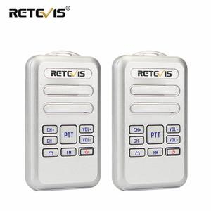 Image 1 - Retevis rt20 mini rádio walkie talkie 2 pçs 2 w transceptor uhf vox rádio fm tipo c usb carga 2 vias rádio caminhada falar comunicador
