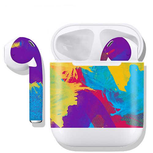 Écouteurs de luxe écouteurs autocollant pour Apple Airpods 1 2 écouteurs autocollant bricolage personnalité couleur peau boîtier de charge boîte autocollant