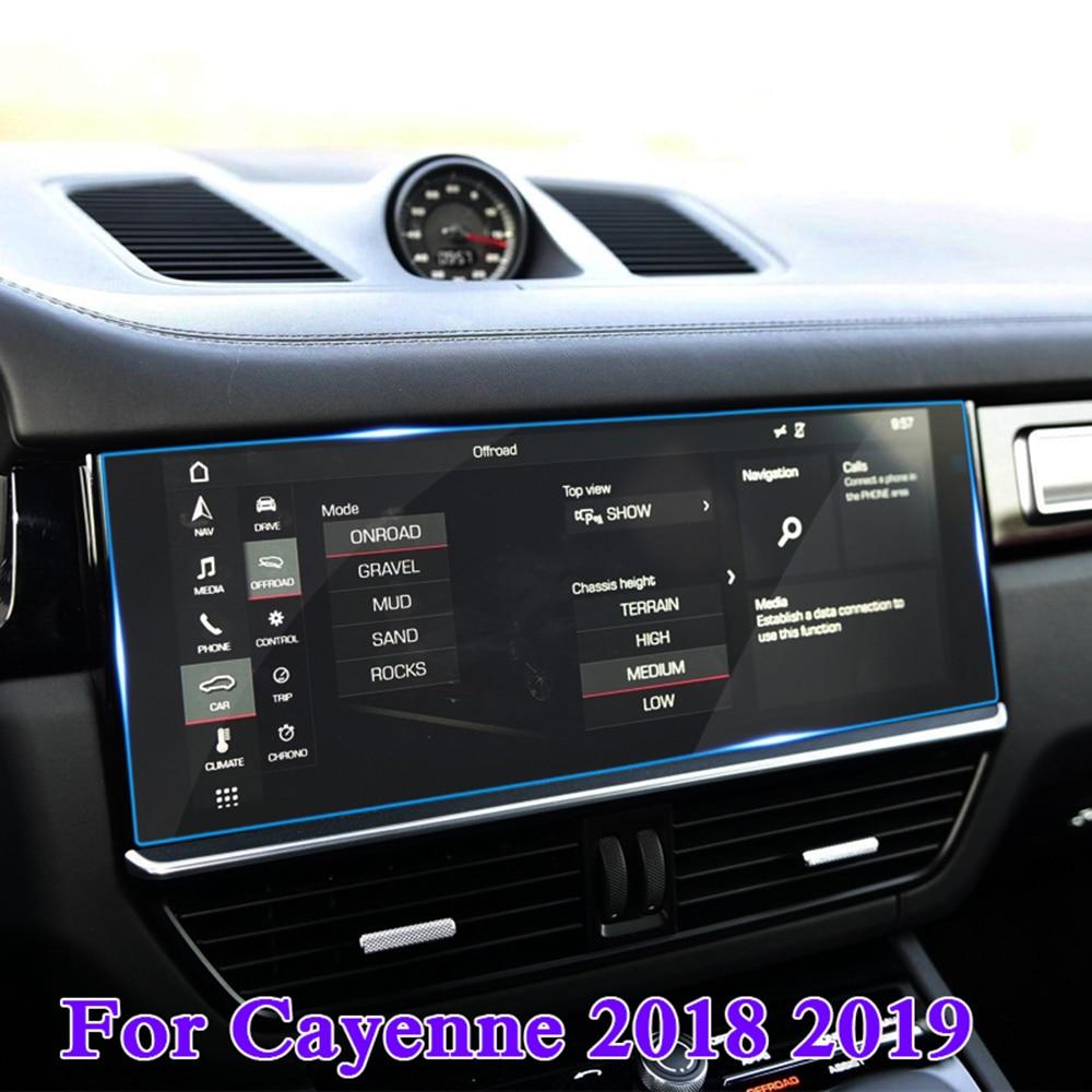 Для Porsche Cayenne 2019 Авто навигация gps экран защитная пленка против царапин против отпечатков пальцев автомобильные аксессуары-in Лепнина для интерьера from Автомобили и мотоциклы on AliExpress