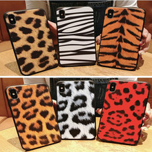 Creative new autumn and winter leopard phone case for iPhone X XS XR XSMax 87 6 6S PluS 5 5S soft silicone drop protection cover
