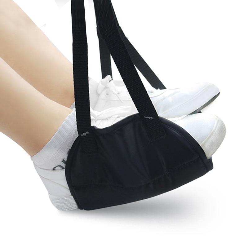 Mini Foot Rest Portable Memory Foam Chair Foot Rest Leg Hammock Office Travel Airplane Foot Hammock Travel Accessories
