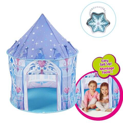 princesa de gelo tenda criancas acampamento casa