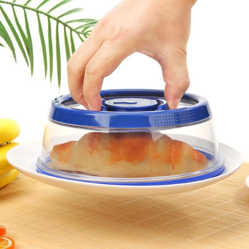 S Vacuum Food Sealer Cover Kitchen Instant Fresh Crisper Fruit Preservation Food Fresh Keeping Wrap Reusable Wrap Seal Lid Cover