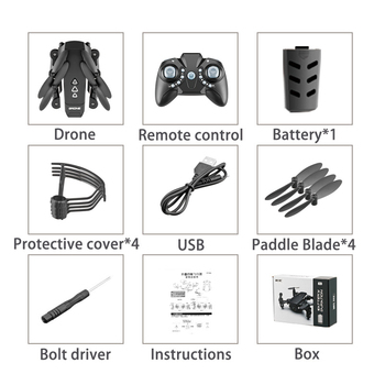 KK8 Foldable Mini drones Drone RC FPV Quadcopter HD Camera Wifi FPV Dron Selfie RC Helicopter juguetes Toys  for boys girls kids 6