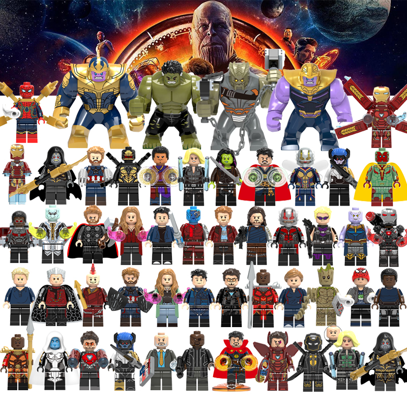 Legoings Marvel Avengers Super Heroes Infinity War Thanos Guardians Of Galaxy Spider Iron Man THOR Building Blocks Toys Figures