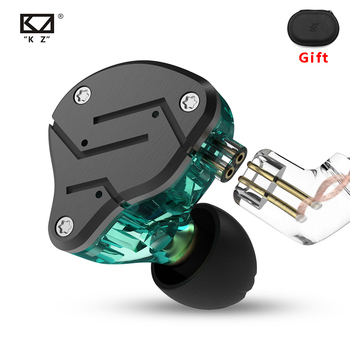 KZ ZSN Earphones 1DD+1BA Hybrid In Ear Monitor Noise Cancelling HiFi Music Earbuds Sports Stereo Bass Headset With Microphone kz kz ed4 stereo metal headphone forged copper noise isolation with microphone hifi in ear music earphone for mobile phone mp3 mp4