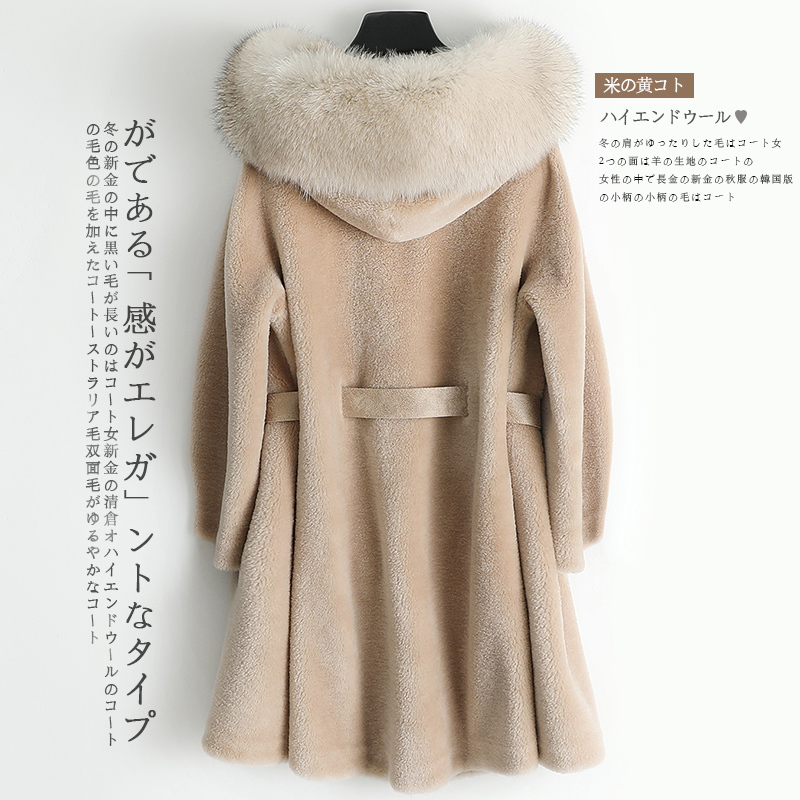 Fur Real Winter Coat Women Clothes Hooded Sheep Shearing Wool Jacket Korean Womens Coats Manteau Femme 968096 YY1511 S S