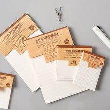 1шт творческие исследования и рабочий план крафт-бумага Блокнот вручают пост-это бумага Каваи канцелярские офис аксессуары школа поставки