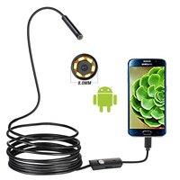 720P 8MM OTG Android Endoscoop Camera 1M Video Endoscoop Borescope Inspectie Camera Windows USB Endoscoop voor Auto