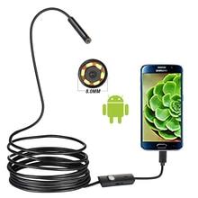 720P 8MM OTG Android endoskop kamera 1M Video endoskop Borescope muayene kamera Windows USB endoskop araba için