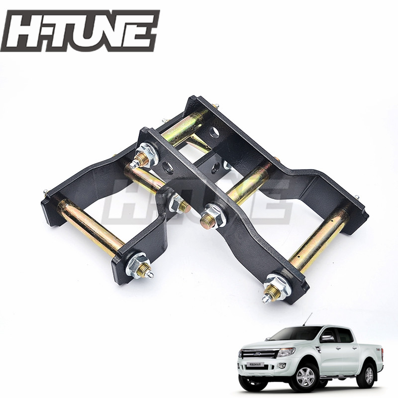 H TUNE 4x4 Accesorios Rear Suspension Spring Extended 2 Greasable Shackles Kits For RANGER 2012 BT50