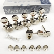 1 Set 6 In-line Locking Vintage Electric Guitar Machine Heads Tuners For ST TL Guitar Lock String Tuning Pegs ( Nickel ) 1 set silver zinc alloy tuning pegs keys machine heads for acoustic guitar with lock knob