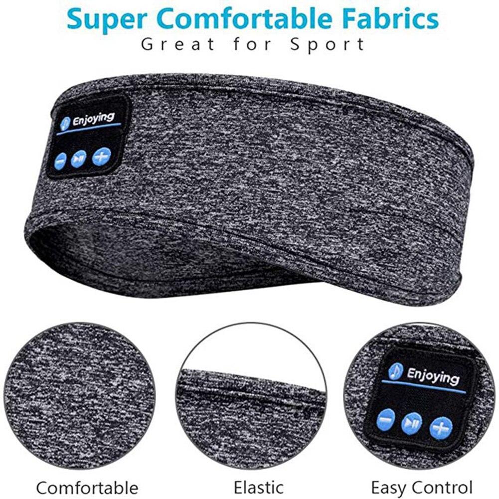 Беспроводные Bluetooth-наушники, головная повязка, спортивные наушники для йоги, фитнеса, бега, пешего туризма, стереогарнитура для сна, головно...