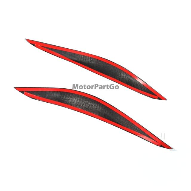 Real Crabon Fiber Head light Eyelid Eyebrow Cover Trim 1pair for  Subaru Impreza 11th Generation 11 2015-2019 T217 4